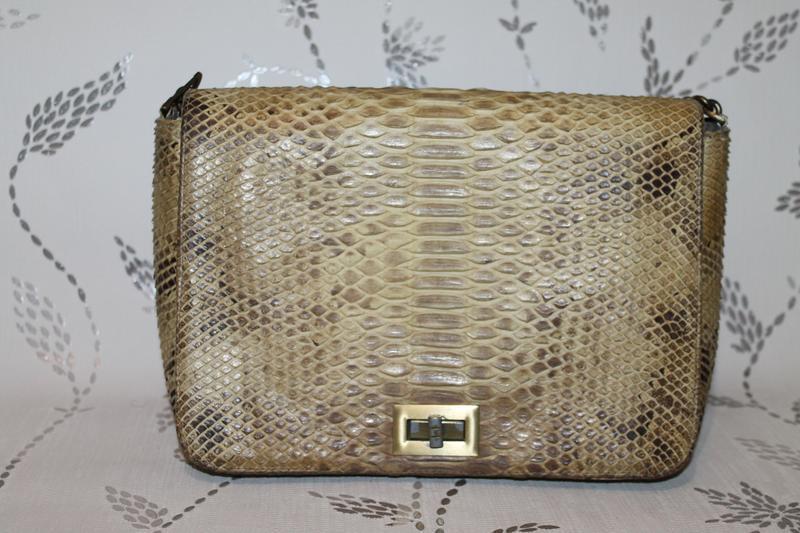 Шикарная сумка из настоящей кожи питона - Фото 2