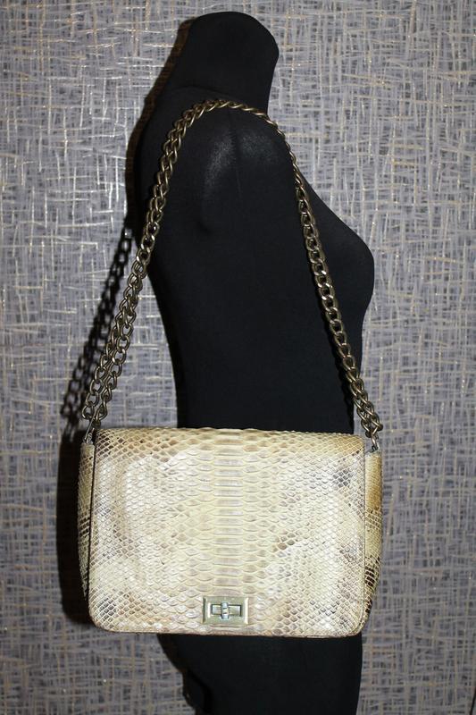 Шикарная сумка из настоящей кожи питона - Фото 3