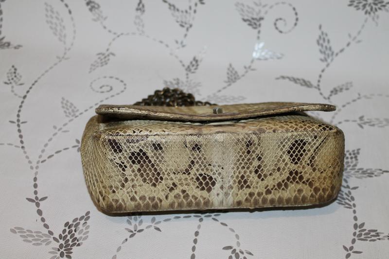 Шикарная сумка из настоящей кожи питона - Фото 4