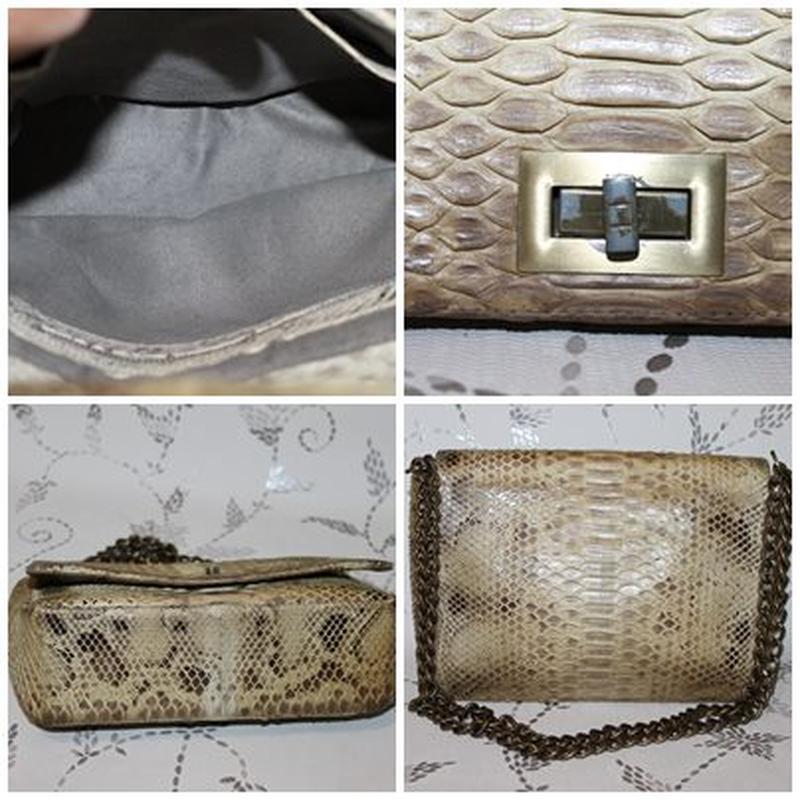 Шикарная сумка из настоящей кожи питона - Фото 5