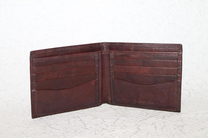 Кожаный кошелек портмоне - Фото 4