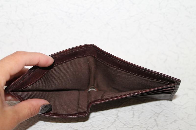 Кожаный кошелек портмоне - Фото 5