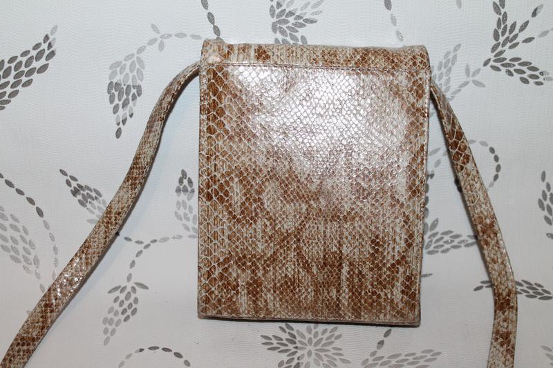 Стильная кожаная сумка nicoli тиснение под кожу питона.кроссбоди - Фото 2