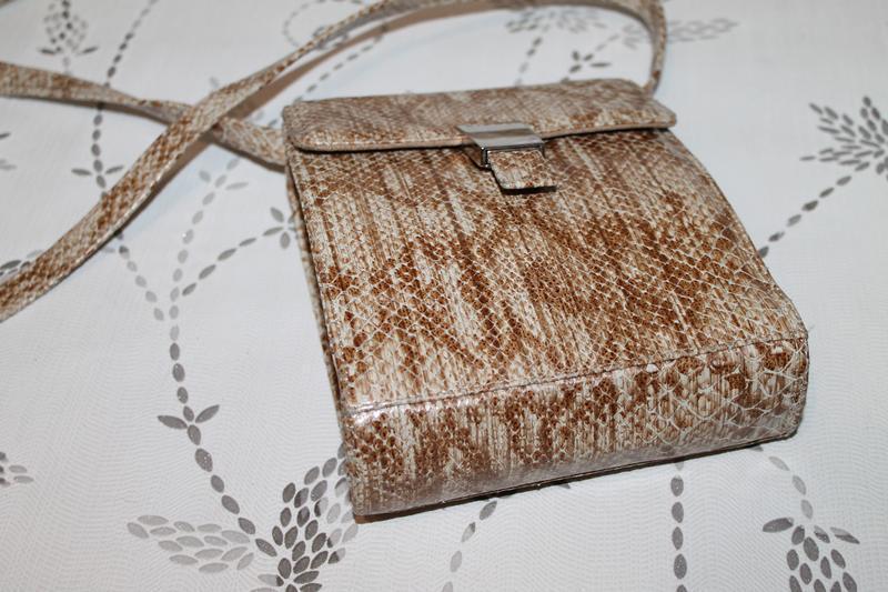 Стильная кожаная сумка nicoli тиснение под кожу питона.кроссбоди - Фото 4