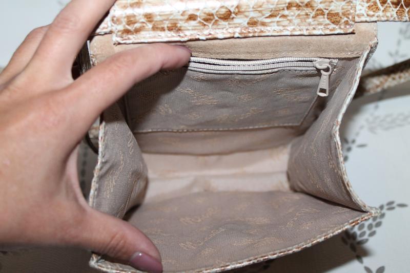 Стильная кожаная сумка nicoli тиснение под кожу питона.кроссбоди - Фото 5