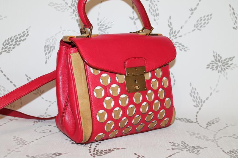 Оригинальная кожаная сумка marc jacobs mini metropolitan bag