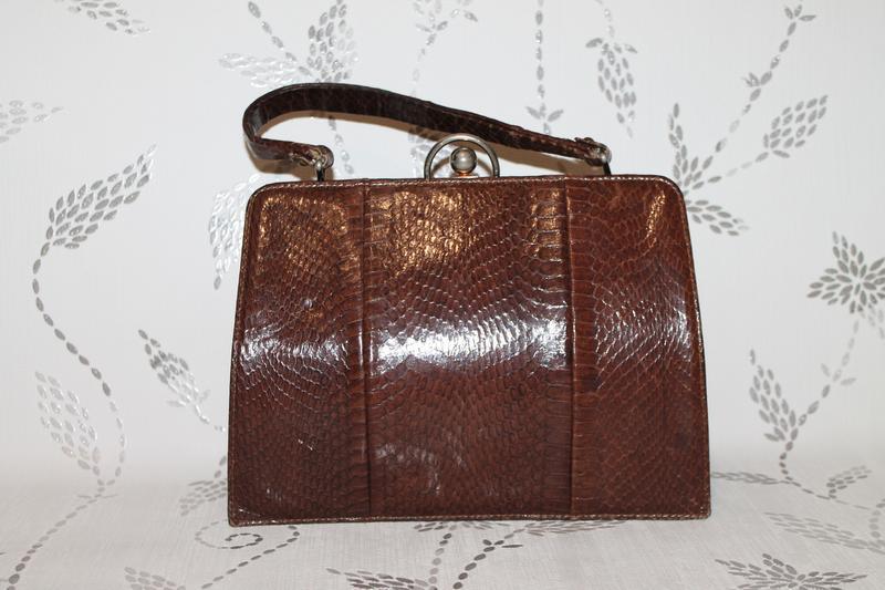 Винтажная кожаная сумка из кожи змеи - Фото 2