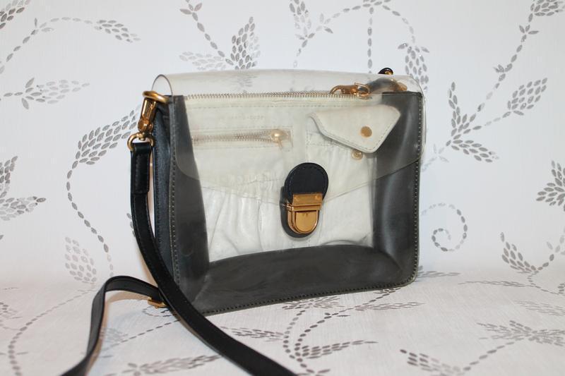 Marc jacobs clear bag кожаная сумка кроссбоди