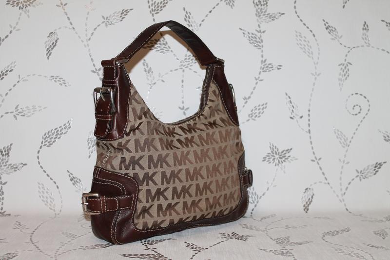 Оригинальная кожаная сумка от michael kors.кожа+ткань