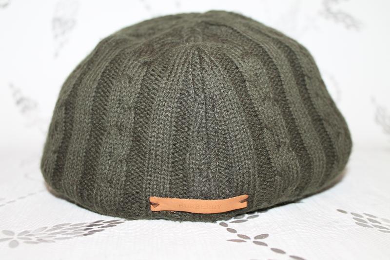 Burberry flat cap вязаная кепка - Фото 4