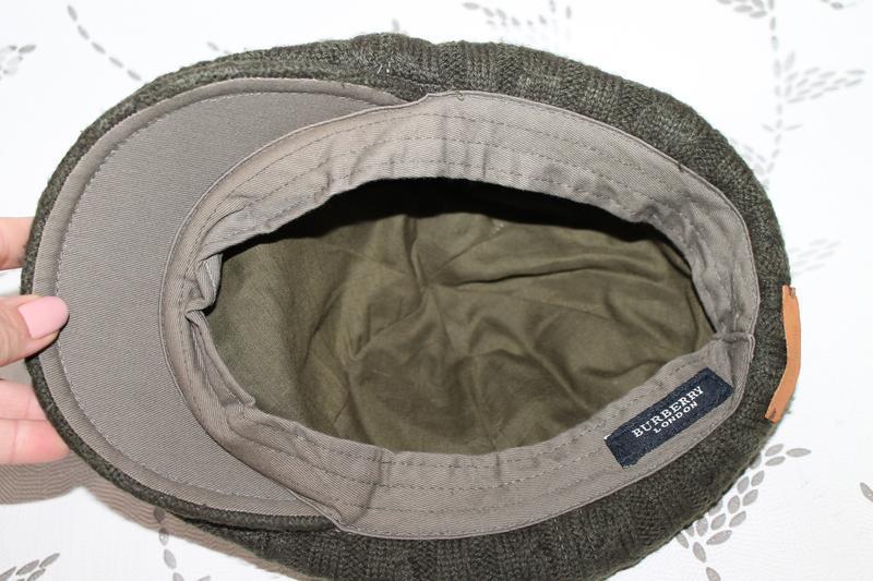 Burberry flat cap вязаная кепка - Фото 5