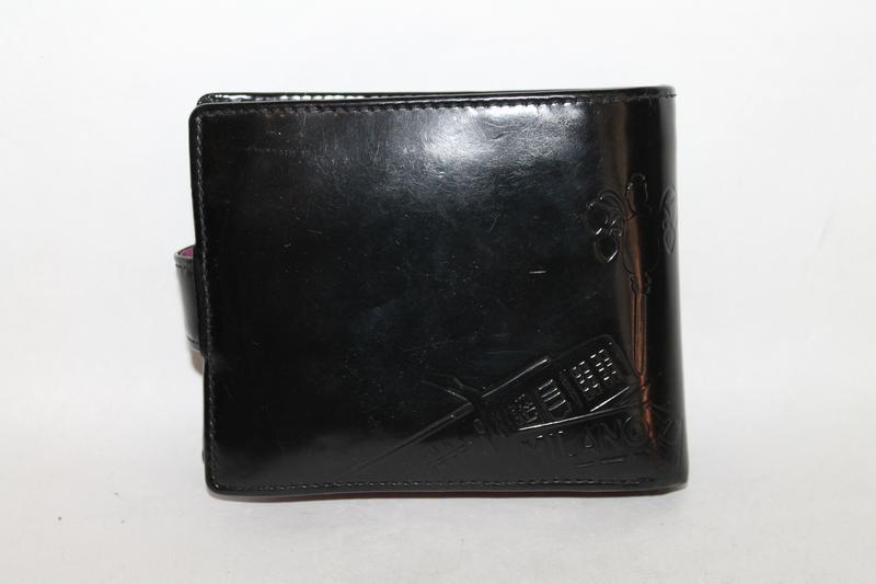 Оригинальный кожаный кошелек/портмоне prada с картой подлинности - Фото 2