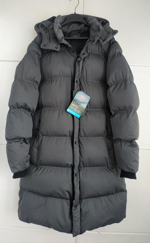 Стёганое длинное пальто- пуховик pull&bear модного кроя кокон ... - Фото 5