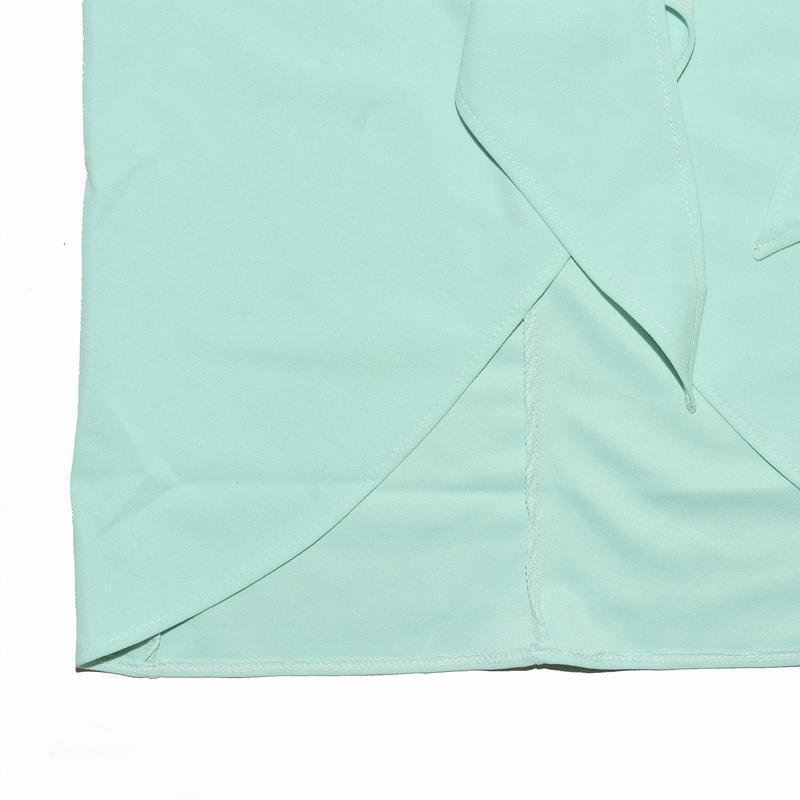 Миди юбка ментолового цвета с бантом boohoo - Фото 5