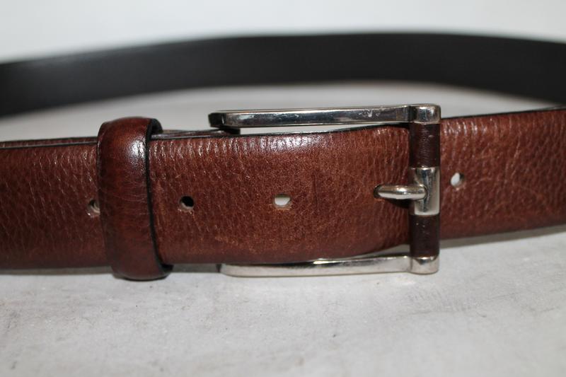 Фирменный кожаный ремень reiss - Фото 4
