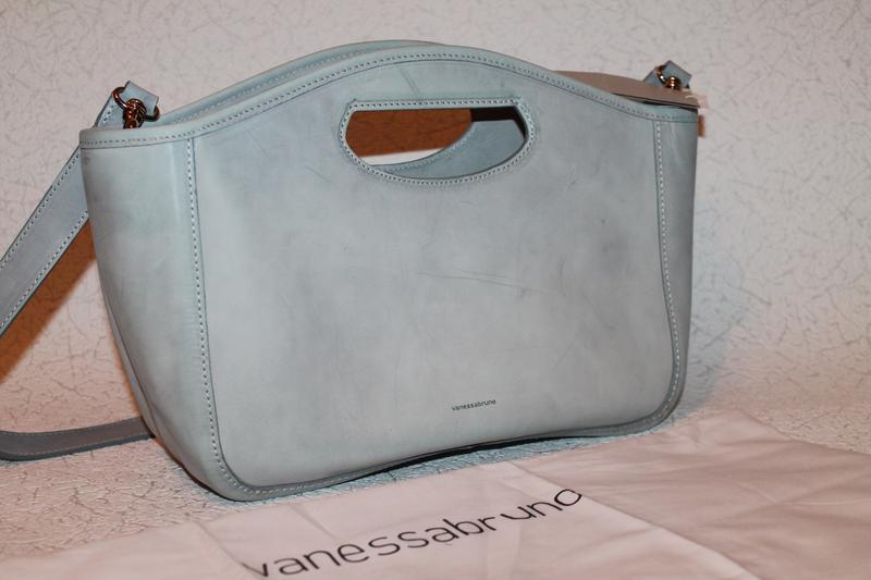 Роскошная кожаная сумка от vanessa bruno италия новая с биркам...