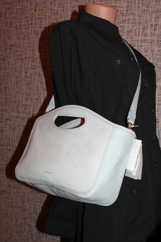 Роскошная кожаная сумка от vanessa bruno италия новая с биркам... - Фото 3