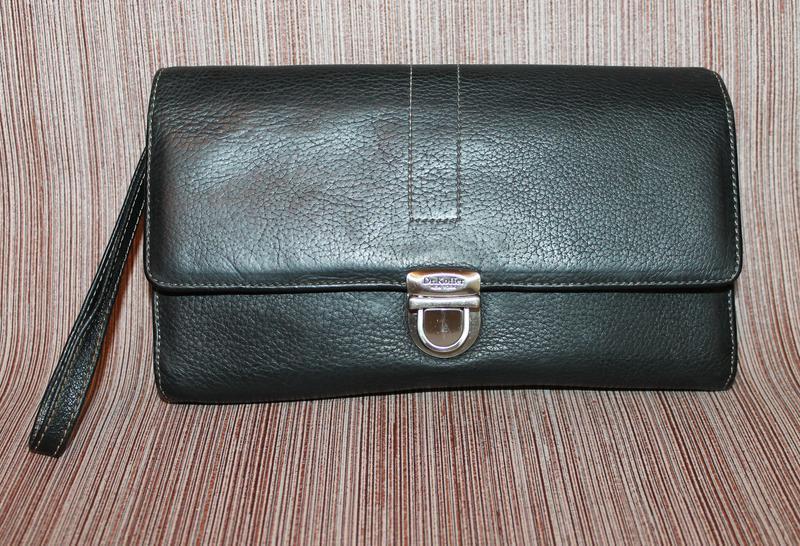 Кожаная сумка клатч натуральная кожа dr.koffer new york