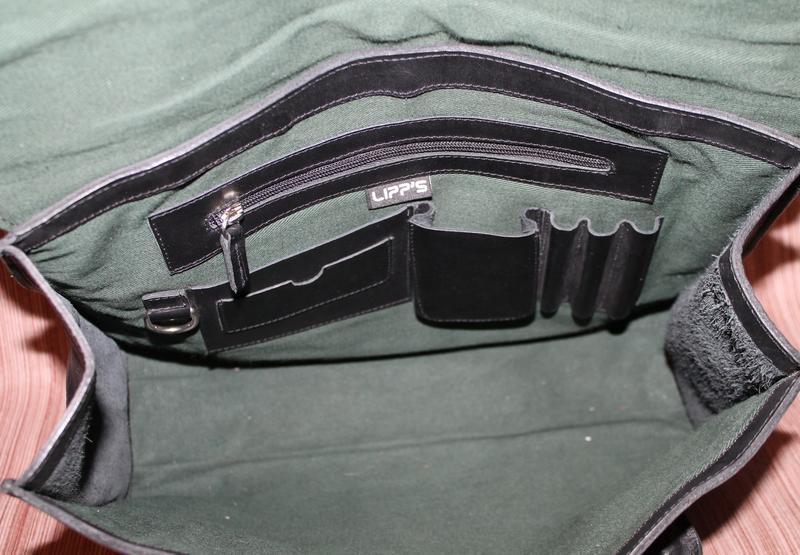 Кожаная прочная и качественная деловая сумка из плотной кожи - Фото 4