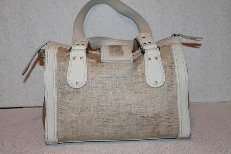 Модная кожаная сумка от kenzo номерная кожа+канвас - Фото 2
