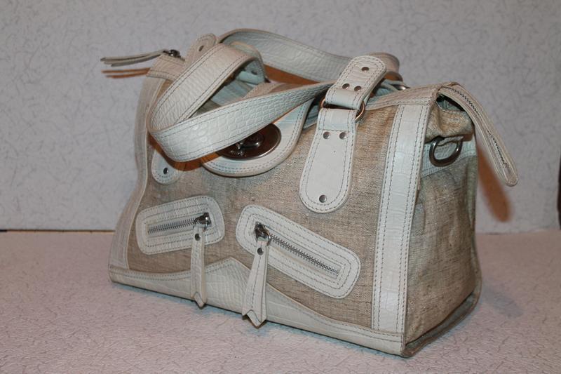 Модная кожаная сумка от kenzo номерная кожа+канвас - Фото 3