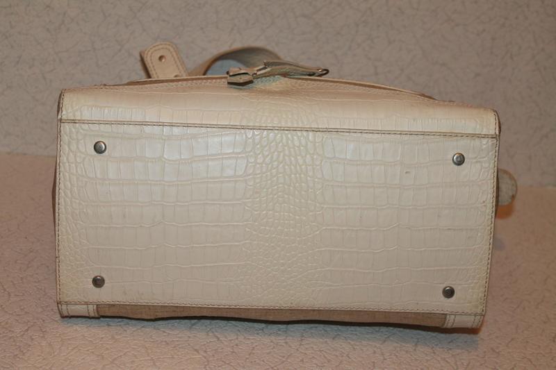 Модная кожаная сумка от kenzo номерная кожа+канвас - Фото 4