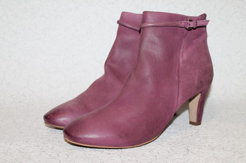 Кожаные ботинки ecco 40 размер 26 см стелька