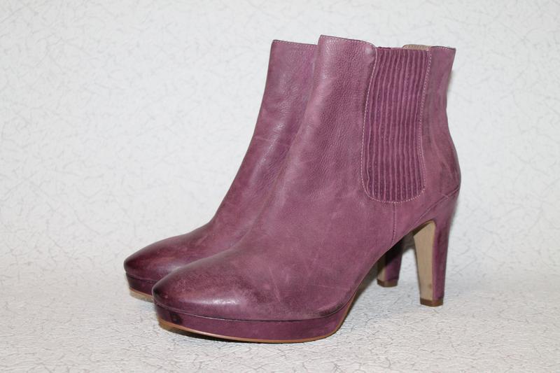 Стильные кожаные ботинки ecco 41 размер 27 см стелька.шикарный...