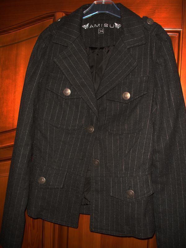Темно серый пиджак школьный в школу для девочки форма размер 4...