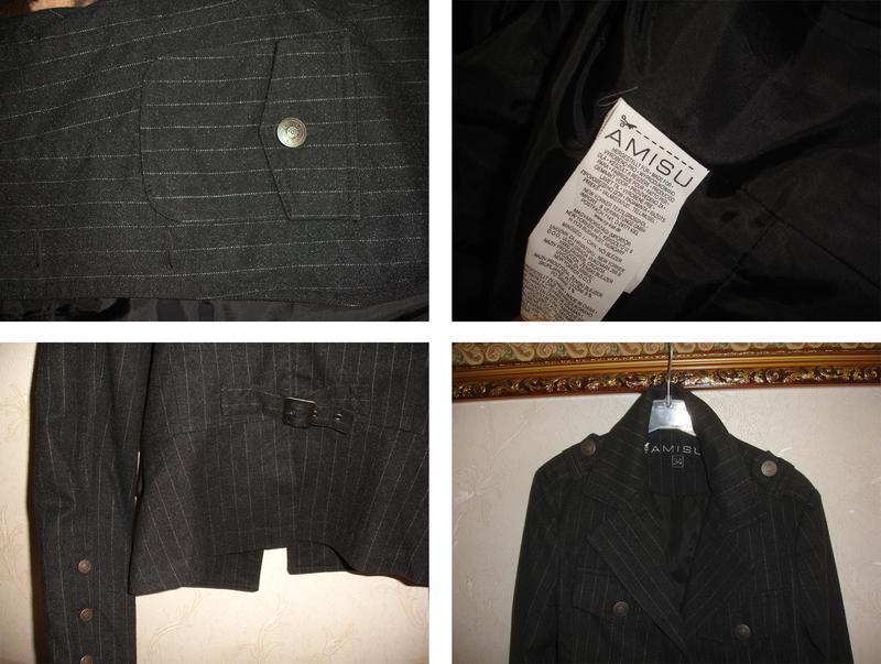 Темно серый пиджак школьный в школу для девочки форма размер 4... - Фото 2