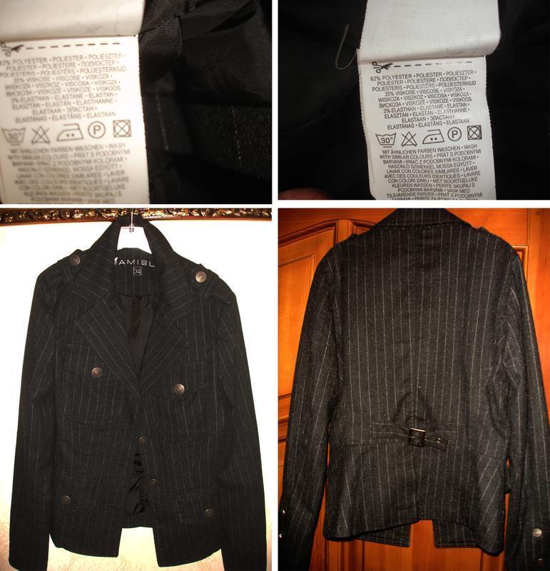 Темно серый пиджак школьный в школу для девочки форма размер 4... - Фото 3