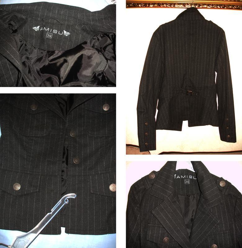 Темно серый пиджак школьный в школу для девочки форма размер 4... - Фото 4