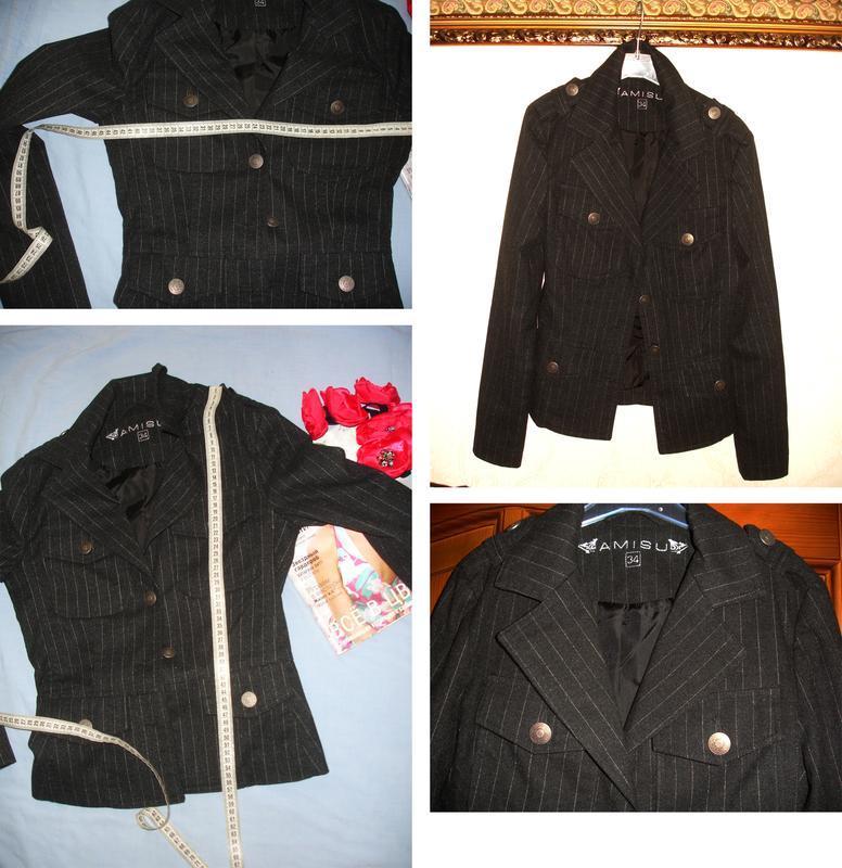 Темно серый пиджак школьный в школу для девочки форма размер 4... - Фото 5