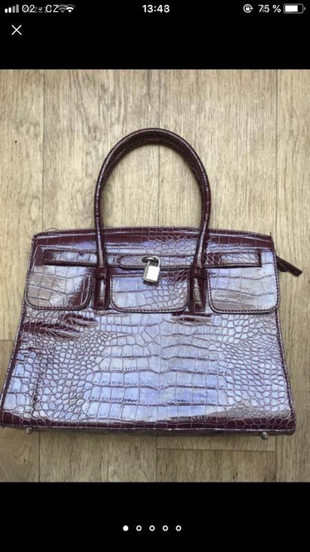 Сумка под кожу крокодила бардовая брендовая hermès birkin