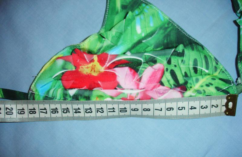 Купальник 3д раздельный 3d принт цветы размер 44 / 10  шикарны... - Фото 2