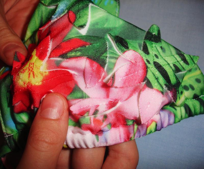 Купальник 3д раздельный 3d принт цветы размер 44 / 10  шикарны... - Фото 4