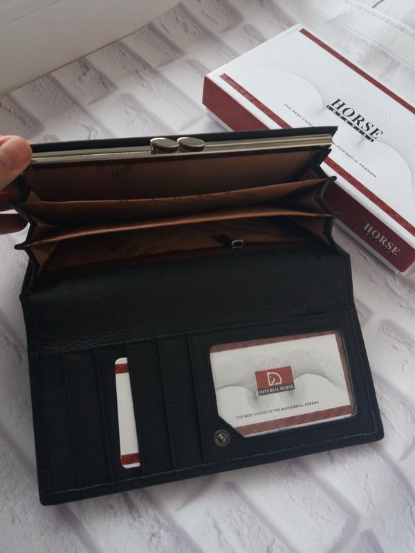 Кожаный женский кошелек шкіряний жіночий гаманець - Фото 3