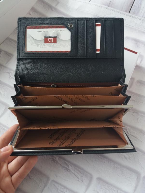 Кожаный женский кошелек шкіряний жіночий гаманець - Фото 4