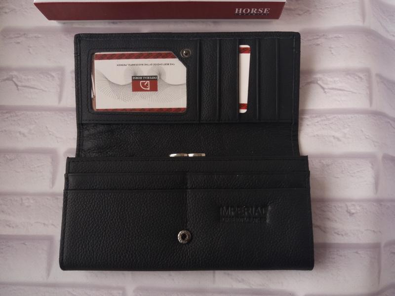 Кожаный женский кошелек шкіряний жіночий гаманець - Фото 5