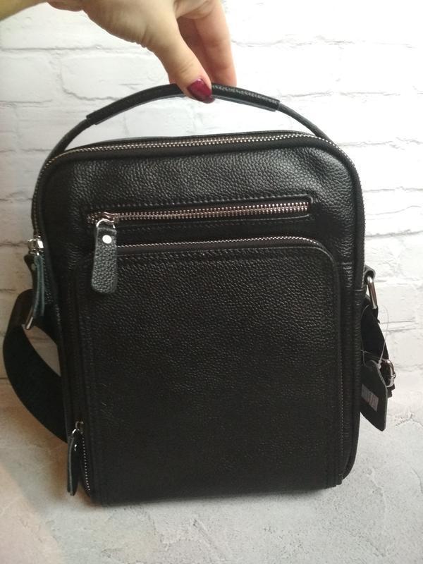 Мужская кожаная сумка чоловіча шкіряна сумка - Фото 2