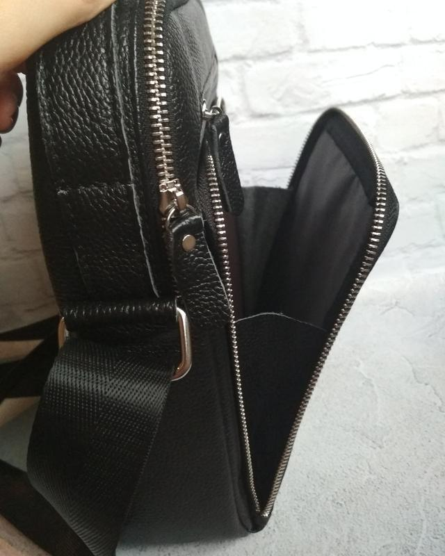 Мужская кожаная сумка чоловіча шкіряна сумка - Фото 3