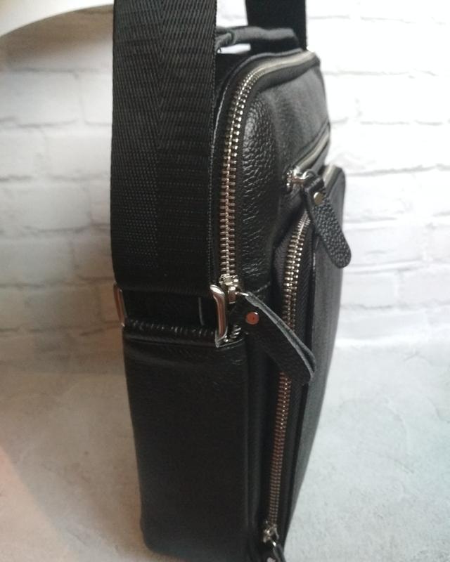Мужская кожаная сумка чоловіча шкіряна сумка - Фото 7