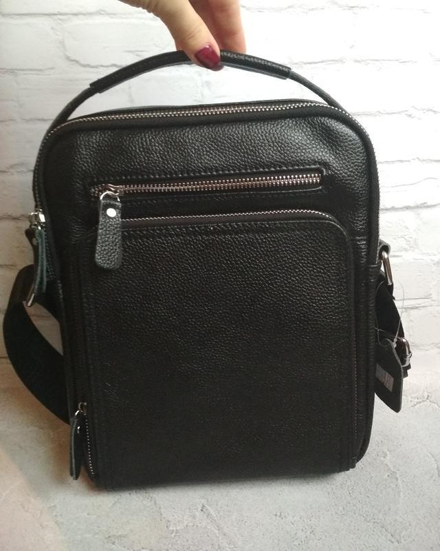 Мужская кожаная сумка чоловіча шкіряна сумка - Фото 8