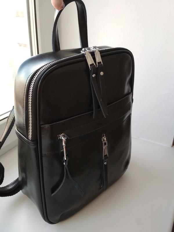 Женский кожаный рюкзак - Фото 2