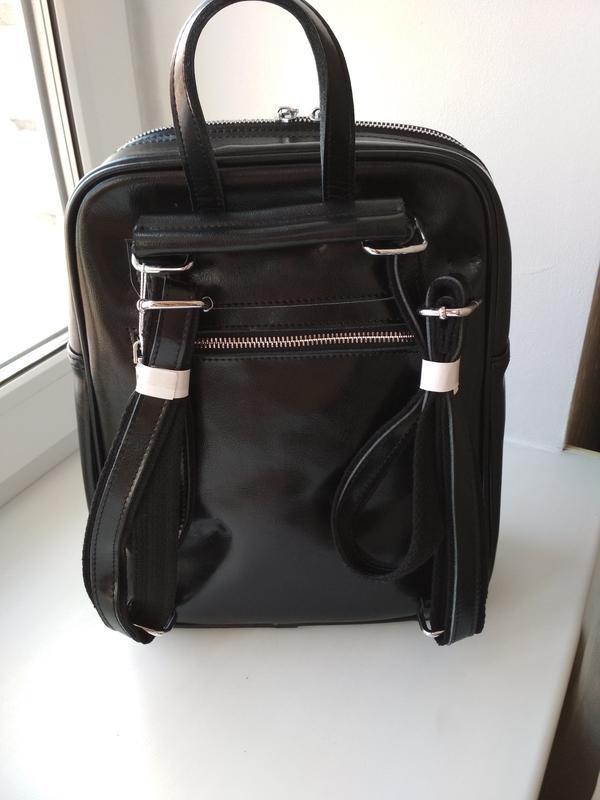 Женский кожаный рюкзак - Фото 3