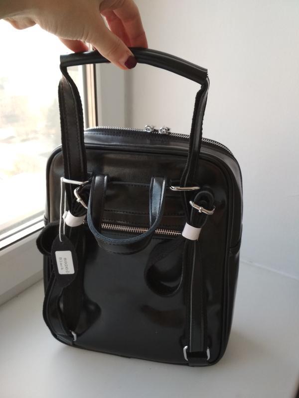 Женский кожаный рюкзак - Фото 4