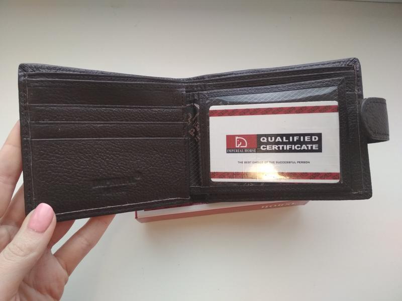 Мужской кожаный кошелёк портмоне кожаное - Фото 2