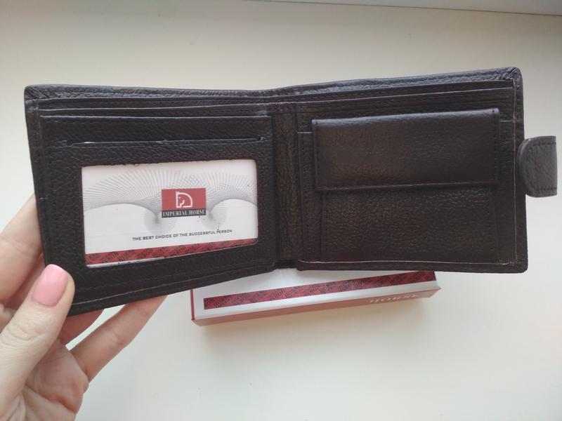 Мужской кожаный кошелёк портмоне кожаное - Фото 3