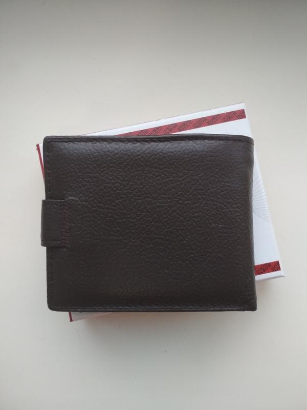 Мужской кожаный кошелёк портмоне кожаное - Фото 4