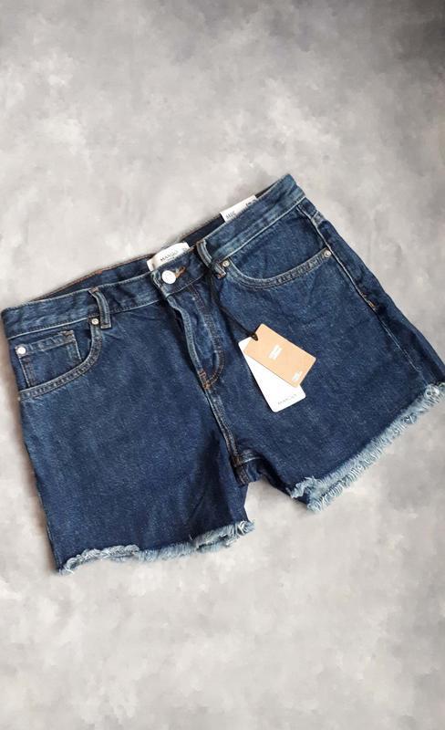 Джинсовые шорты mango свободного кроя - Фото 4